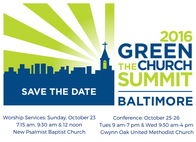 Green the Church Save the Date